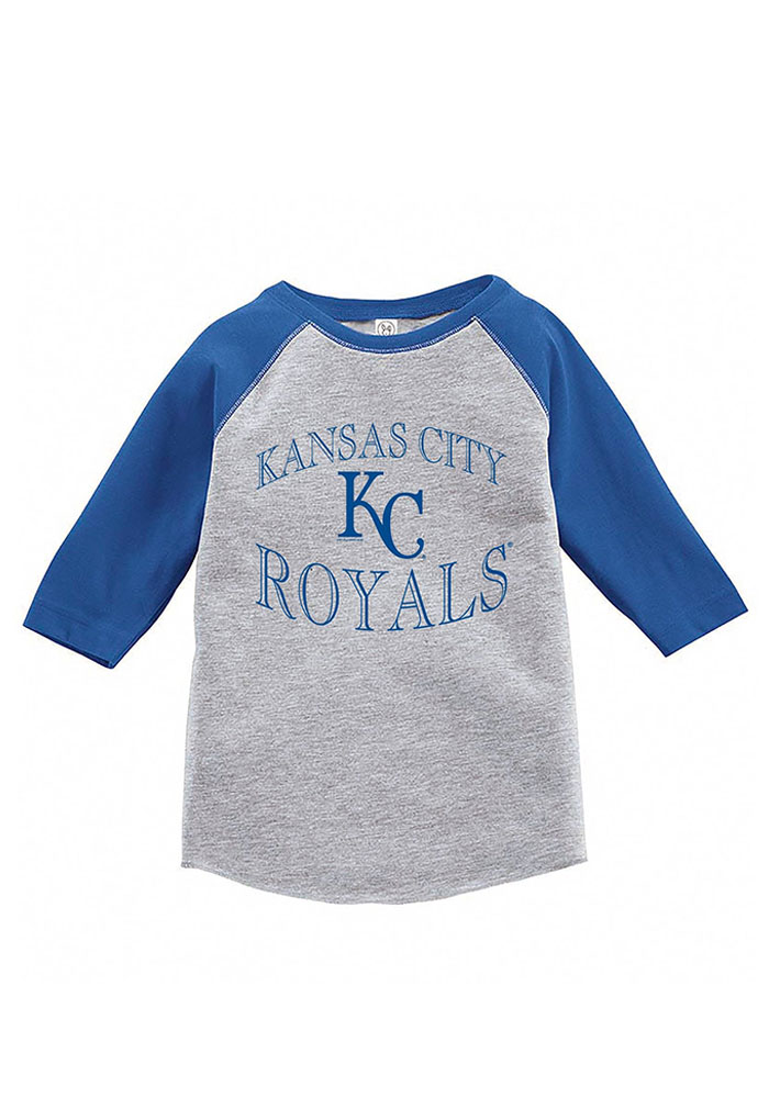 Kansas City Royals Toddler Blue Baseball Long Sleeve T-Shirt - Image 1