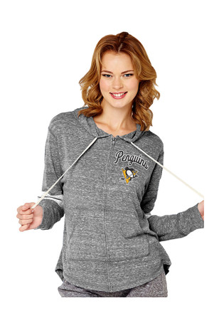 Pittsburgh Penguins Womens Grey Shadow Full Zip Jacket