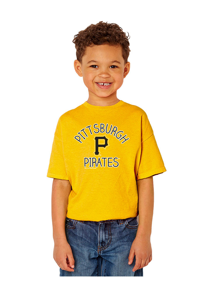 Pittsburgh Pirates Youth Gold Vintage Short Sleeve T-Shirt - Image 1