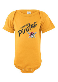 Pittsburgh Pirates Baby Gold Basic One Piece