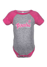 Pittsburgh Pirates Baby Basic One Piece - Grey