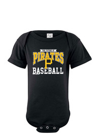 Pittsburgh Pirates Baby Black Basic One Piece