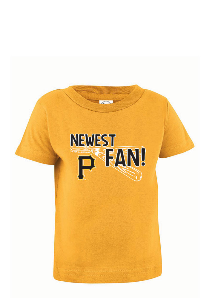 Pittsburgh Pirates Baby T-Shirt Gold Jersey Short Sleeve Tee - Image 1