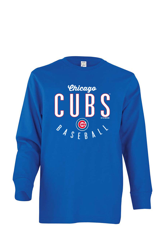 Chicago Cubs Youth Blue Jersey Long Sleeve T-Shirt - Image 1