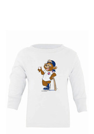 Chicago Cubs Baby White Mascot T-Shirt