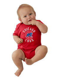 Chicago Cubs Baby Red Circle Logo One Piece