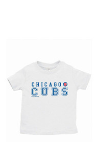 Chicago Cubs Infant Straight T-Shirt - White