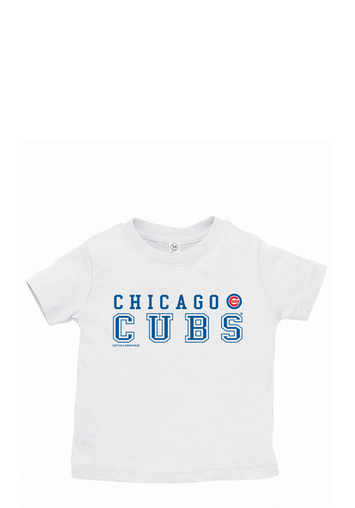 Chicago Cubs Baby T-Shirt White Straight Short Sleeve Tee - Image 1