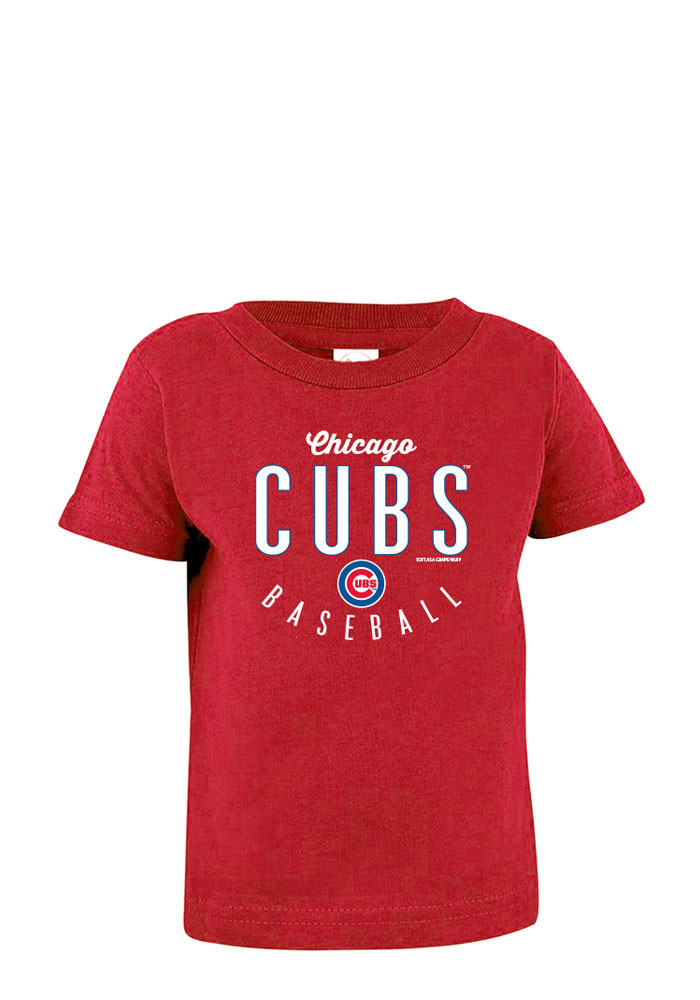 Chicago Cubs Baby T-Shirt Red Jersey Short Sleeve Tee - Image 1