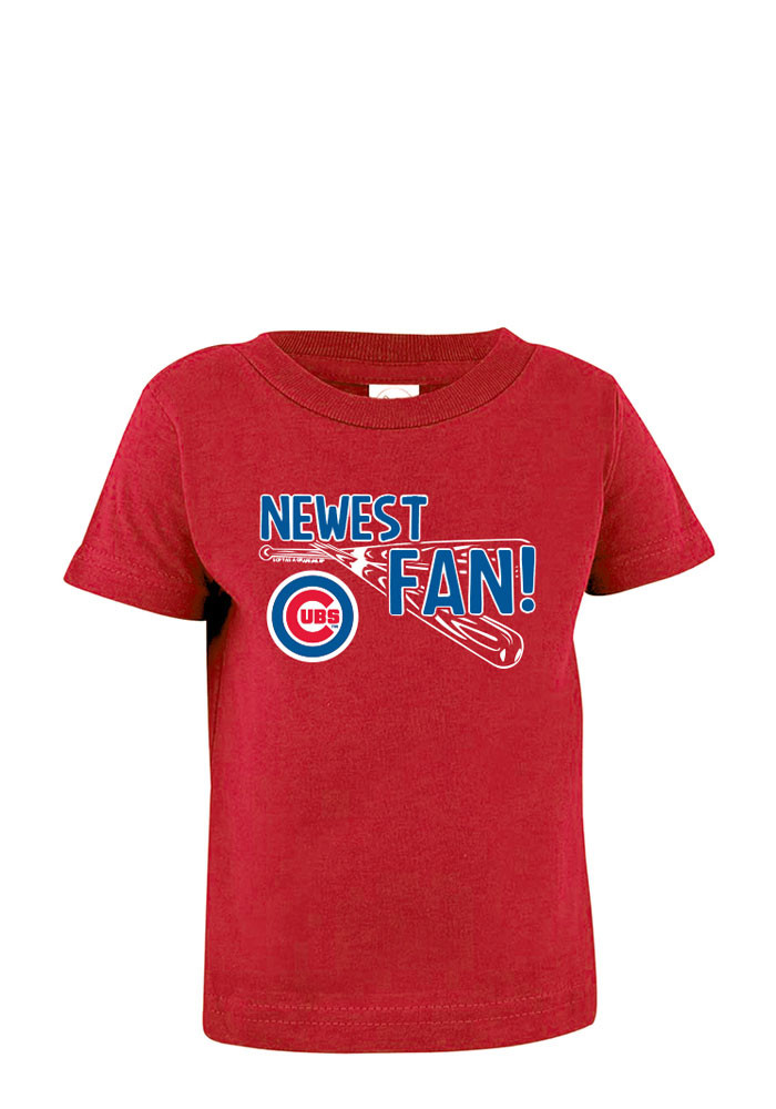 Chicago Cubs Baby T-Shirt Red Newest Fan Short Sleeve Tee - Image 1