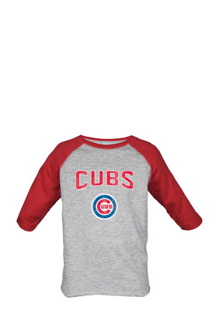 Chicago Cubs Toddler Grey Bold Straight T-Shirt