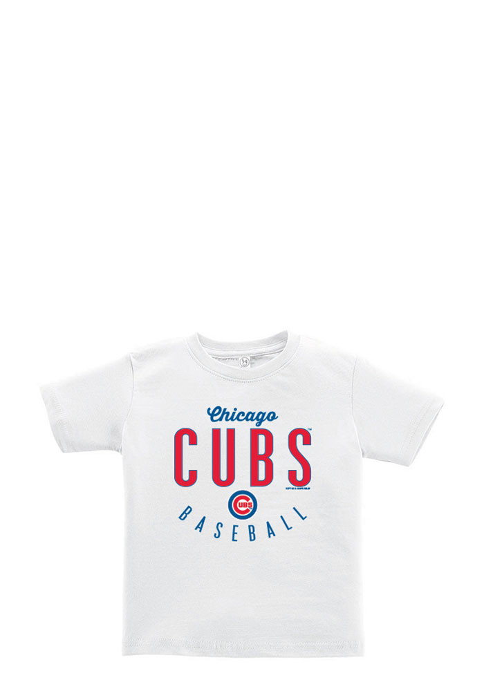 Chicago Cubs Toddler White Basic Short Sleeve T-Shirt - Image 1