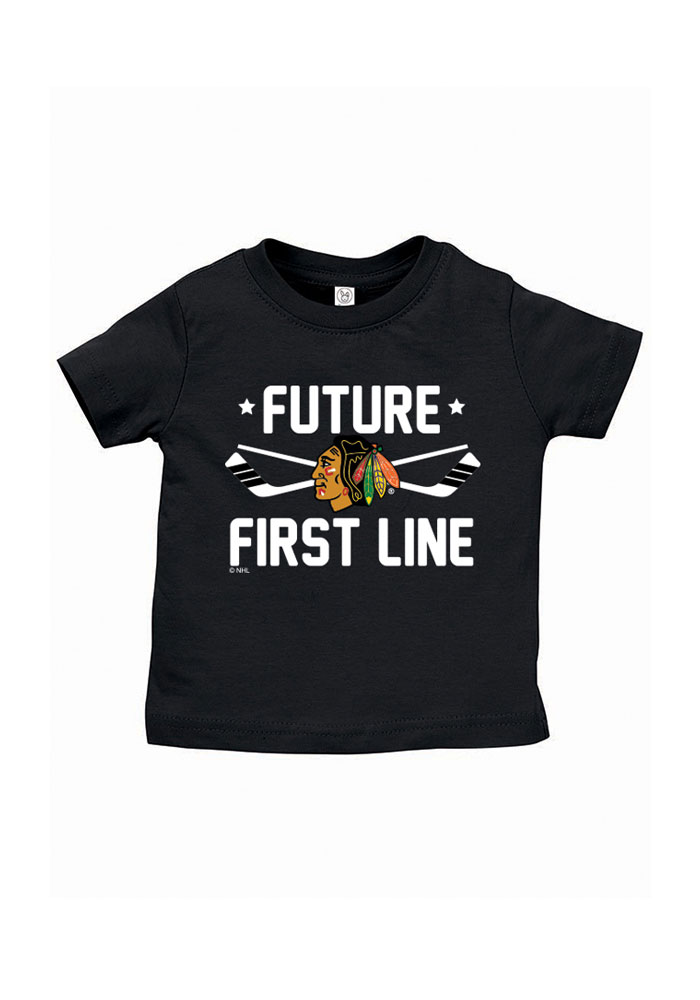 Chicago Blackhawks Baby T-Shirt Black Future First Line Short Sleeve Tee - Image 1