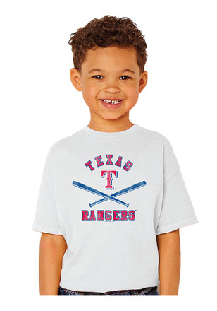 Texas Rangers Kids White Basic Bats T-Shirt