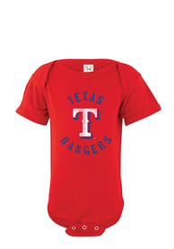 Texas Rangers Baby Red Circle Logo One Piece