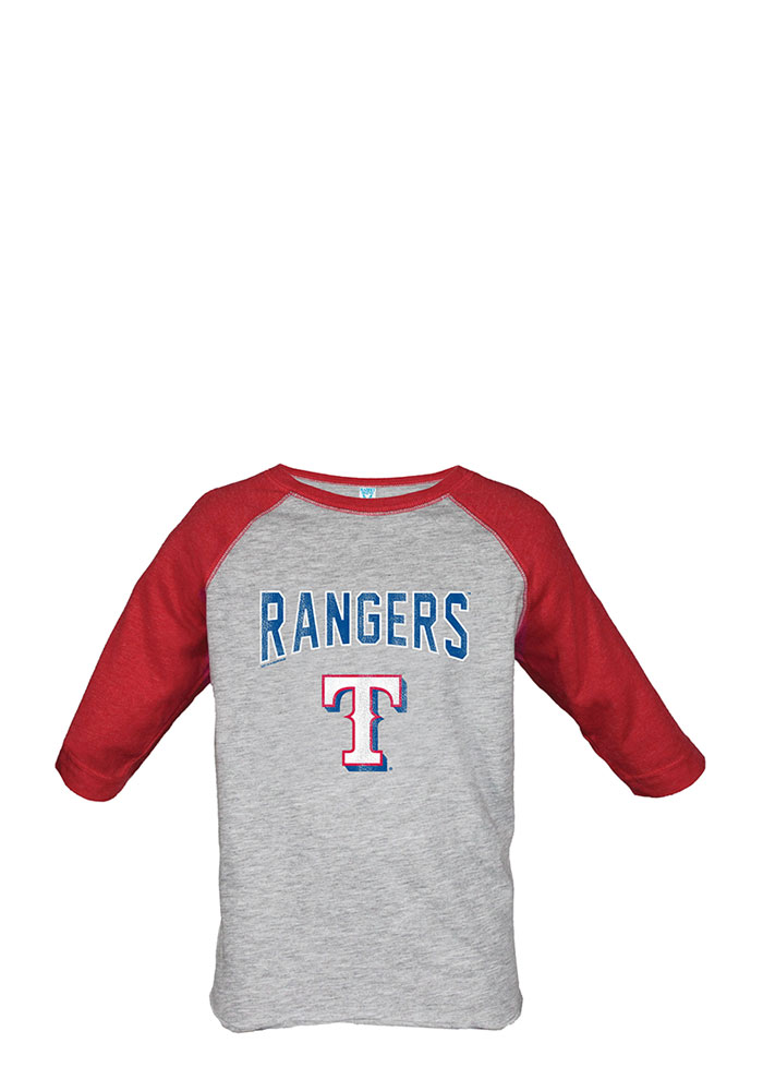 Texas Rangers Toddler Grey Bold Straight Long Sleeve T-Shirt - Image 1