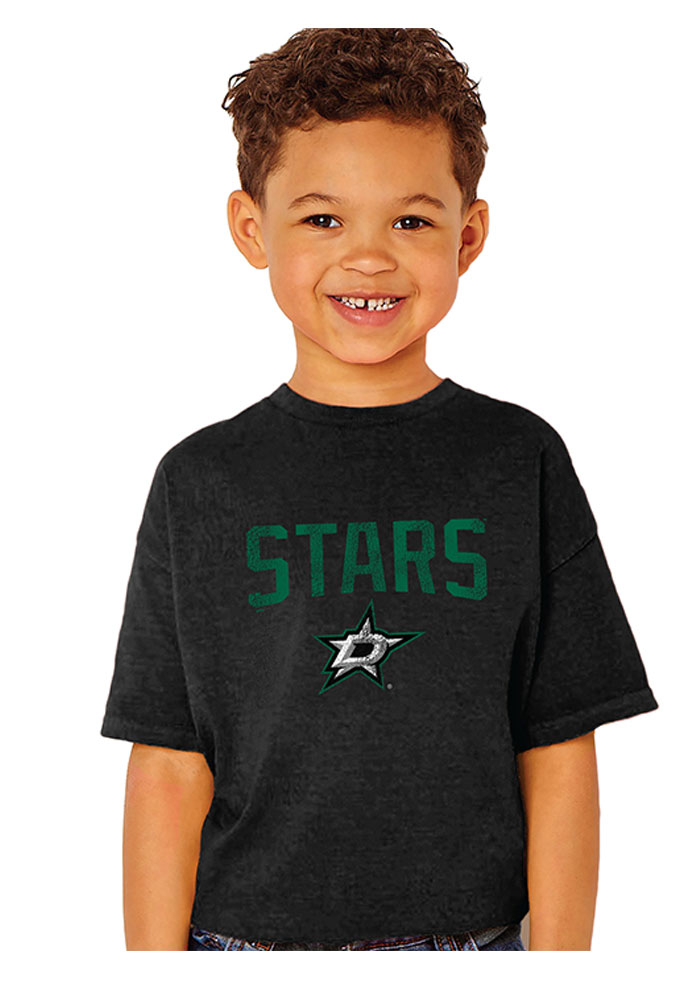 Dallas Stars Youth Black Bold Arch Short Sleeve T-Shirt - Image 1