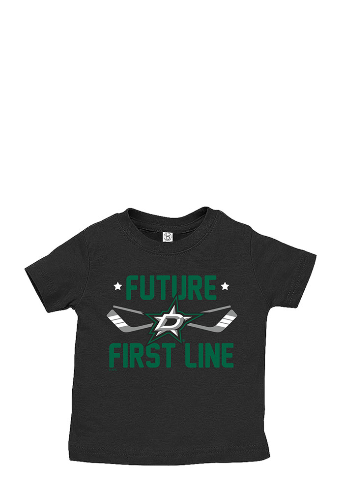Dallas Stars Baby T-Shirt Black Future First Line Short Sleeve Tee - Image 1