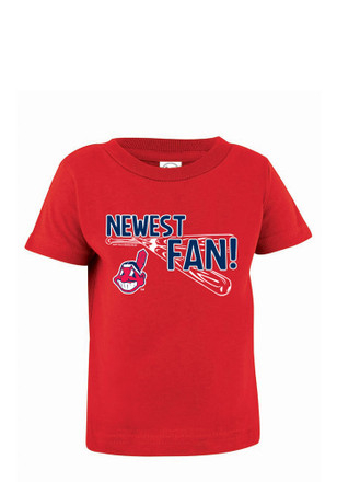 Cleveland Indians Red Jersey Short Sleeve T-Shirt