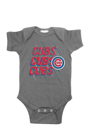 Chicago Cubs Baby Grey Triple Creeper