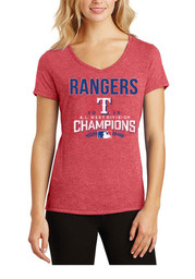 Texas Rangers Womens Red Division Champions T-Shirt