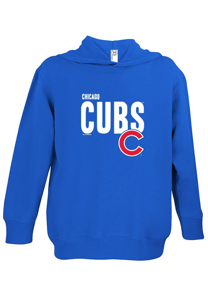 Chicago Cubs Toddler Blue Bold Long Sleeve Hooded Sweatshirt - Image 1