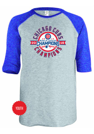 Chicago Cubs Kids Grey Champs T-Shirt