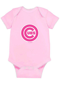 Chicago Cubs Baby Pink Picot One Piece