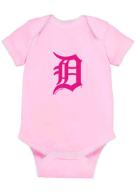 Detroit Tigers Baby Pink Picot One Piece