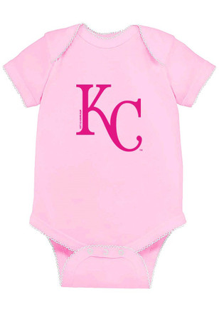 Kansas City Royals Baby Pink Picot Creeper