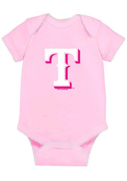 Texas Rangers Baby Pink Picot One Piece