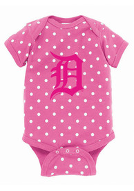 Detroit Tigers Baby Pink Polka One Piece