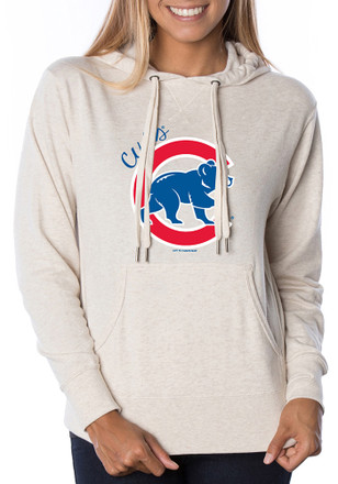 Chicago Cubs Womens Oatmeal Alternate Logo Hoodie