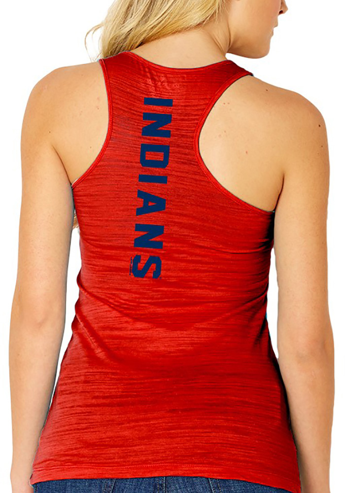 Cleveland Indians Womens Red Multi Count Tank Top - Image 2