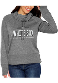Chicago White Sox Womens French Terry Funnel Grey Crew Sweatshirt