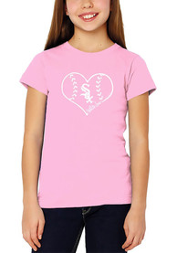Chicago White Sox Girls Pink Play with Heart T-Shirt