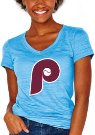 Philadelphia Phillies Womens Cooperstown Multi Count T-Shirt - Light Blue