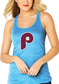 Philadelphia Phillies Womens Light Blue Cooperstown Multi Count Tank Top