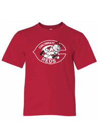 Cincinnati Reds Youth Throwback Logo T-Shirt - Red