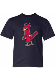 St Louis Cardinals Youth Angry Bird T-Shirt - Navy Blue