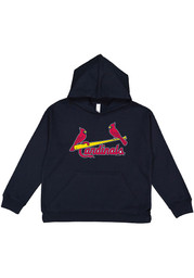 St Louis Cardinals Youth Secondary Logo Hooded Sweatshirt - Navy Blue