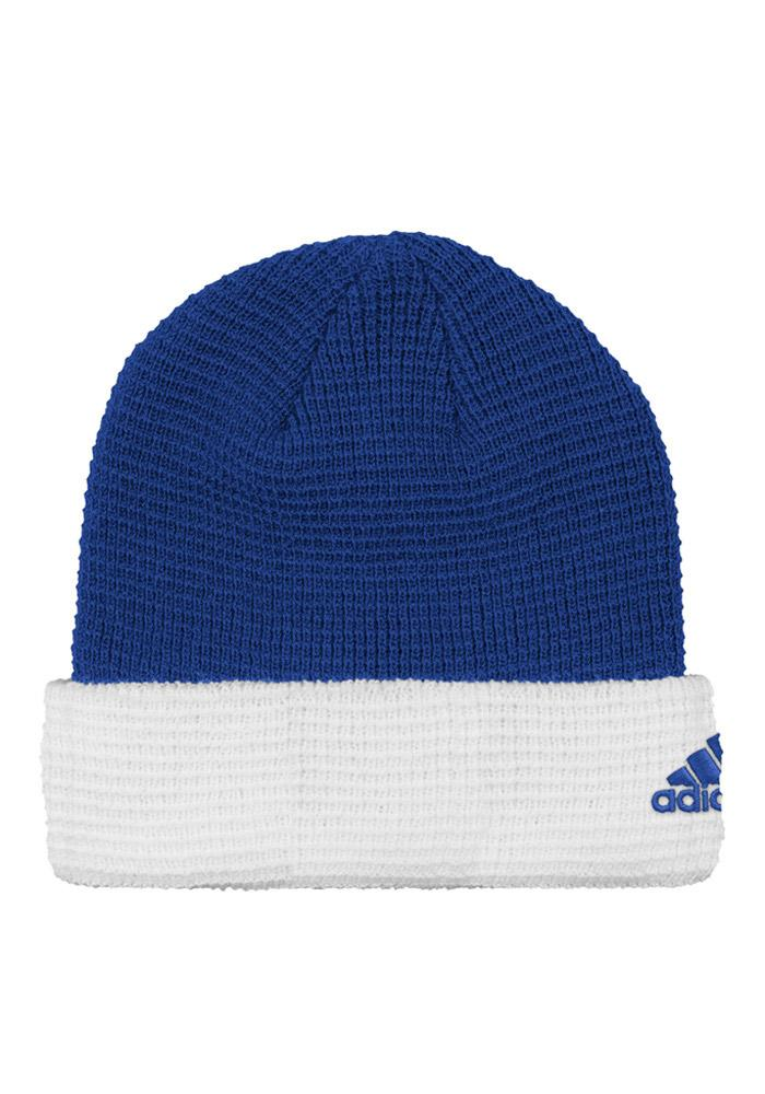 Adidas Detroit Pistons Blue Authentic Cuffed Mens Knit Hat - Image 2