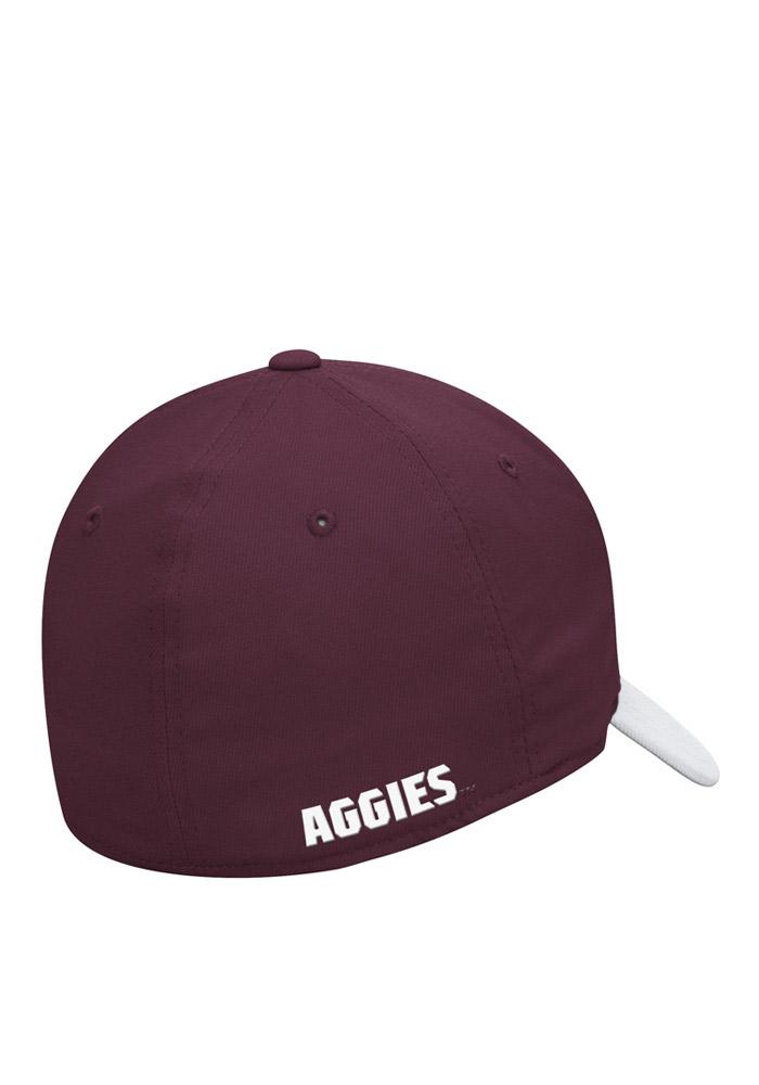 Adidas Texas A&M Aggies Mens White Sideline Structured Flex Hat - Image 2