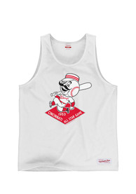 Mitchell and Ness Cincinnati Reds White All-Star Game Tank Top
