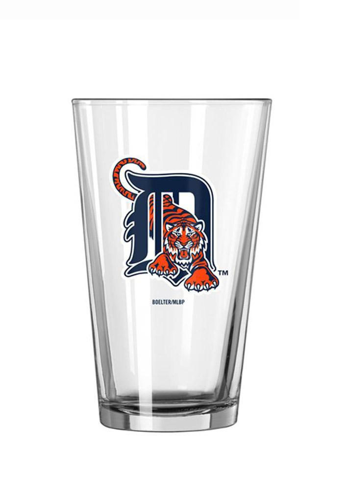 Detroit Tigers Vintage Tiger and D Logo Pint Glass - Image 1