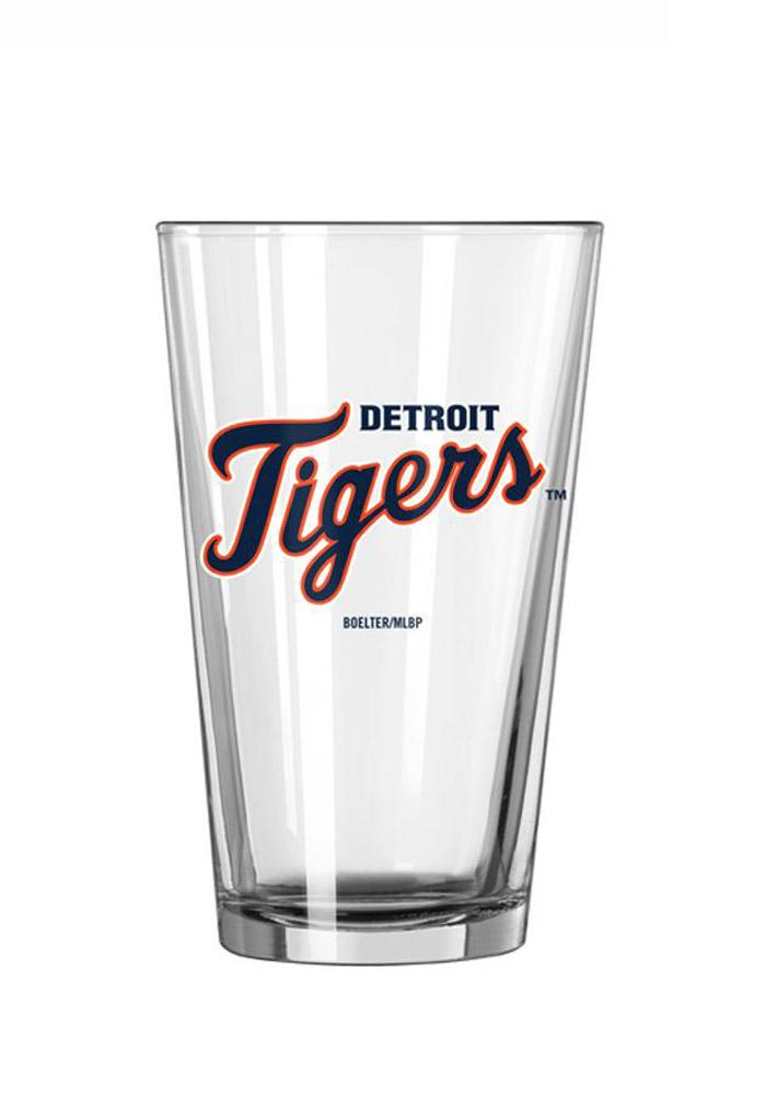 Detroit Tigers Wordmark Pint Glass - Image 1