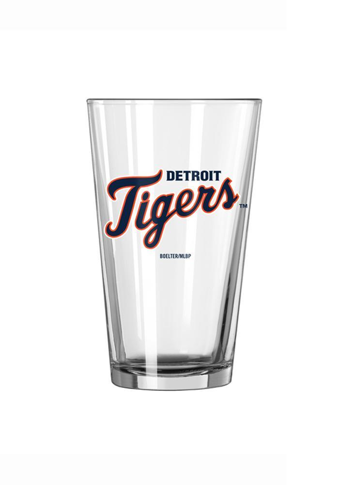 Detroit Tigers Wordmark Pint Glass - Image 2