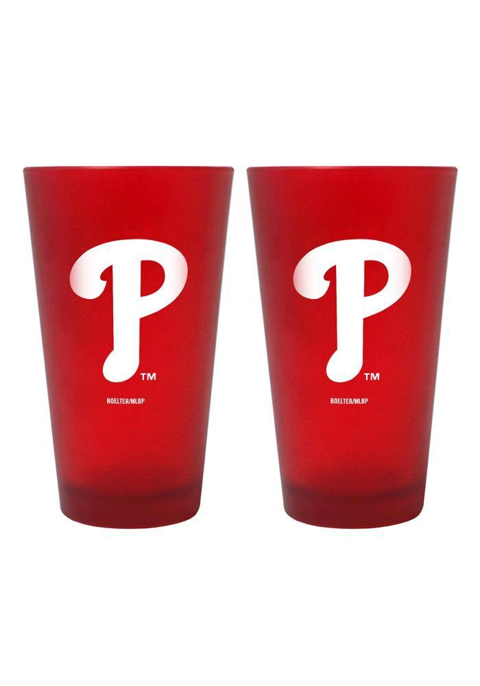 Philadelphia Phillies 16oz Red Frost Pint Glass - Image 2