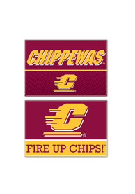 Central Michigan Chippewas 2pk Rectangle Magnet