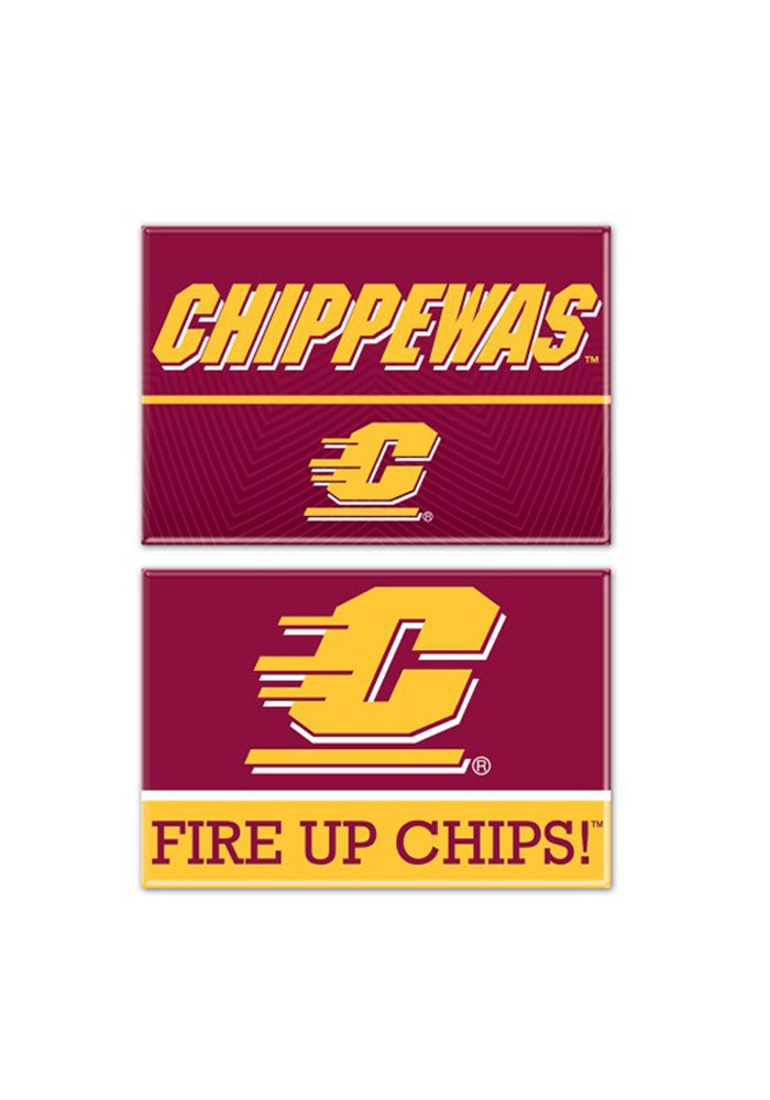 Central Michigan Chippewas 2pk Rectangle Magnet - Image 1